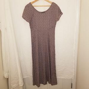 Vintage All that jazz flower midi dress